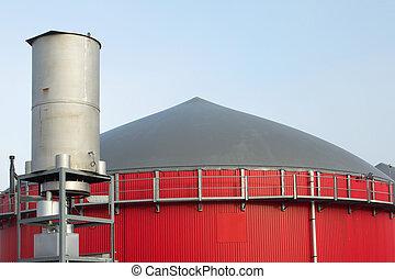 Fermenter of a biogas plant - Red fermenter of a biogas...
