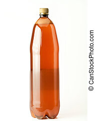 PET bottle - Isolated Brown plastic beer bottle