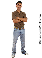 Casual Man - Stock image of confident casual man isolated on...