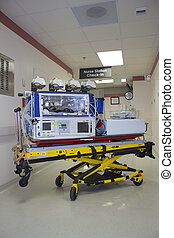Nicu incubator - Incubator used for premature infants in...