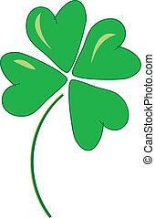Lucky Four Leaf Clover - simple drawing of a four leaf...