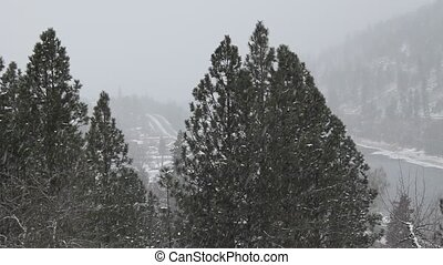 Heavy Snowfall in the Mountains