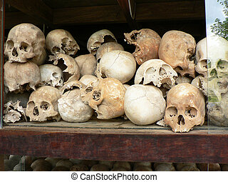 Khmer rouge prison in Cambodia.