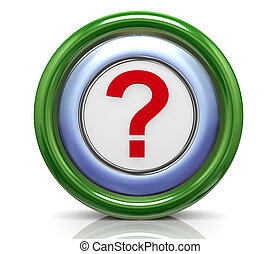 3d icon - question mark