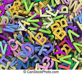 3d heap of alphabets