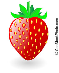 Strawberry. Vector illustration. - Strawberry isolated on...