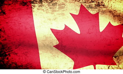 Canadian Flag Waving, grunge
