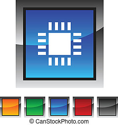 Cpu icons. - Cpu icon set. Vector illustration. .