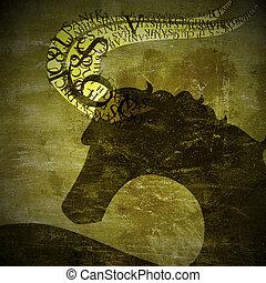 Grunge, zodiak, znak