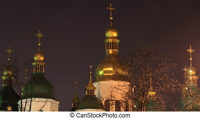 Saint Sophia Cathedral in Kiev time - Kiev , Ukraine