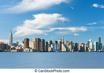 New York from Hudson river - View of the New York from...