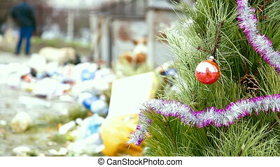 Christmas tree at the dump