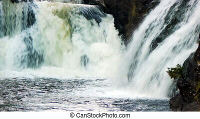 Waterfall Kivach in Karelia, Russia, the second most...