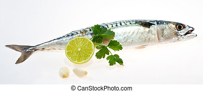 Mullet with garlic and lemon