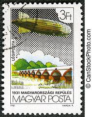 Hungría, -, hacia, 1981:, Un, estampilla, impreso,...