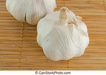 Bundles of garlic