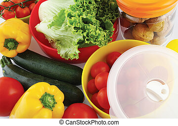 plastic containers for storing food in the fridge