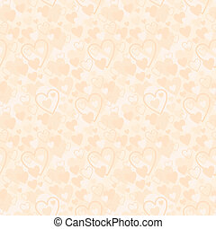 Seamless hearts pattern - Vector illustration, color full