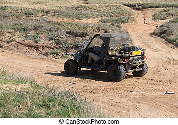 Big ATV on the field  - Big ATV on autosport   track