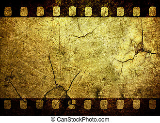 Grunge film strip background - Vintage grunge film strip...