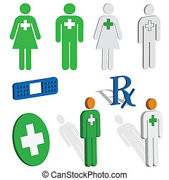 Medical and first aid icons - A set of icons for medical,...