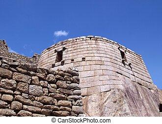 Inca sun temple in Machu Picchu