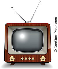 Retro tv, vector illustration