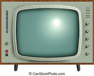 retro tv - Retro tv, vector illustration
