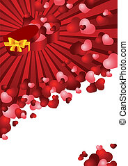 greeting card with a red background