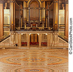 Interior of St Georges Hall, Liverpool, UK. Grade 1 listed...