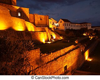Inca Sun temple Coricancha in Cuzco - Dominican church built...