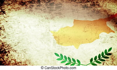 Cyprus Flag Waving, grunge