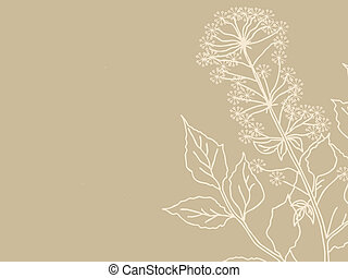 plant silhouette on brown background