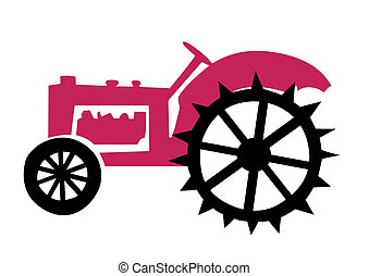 illustration of the old tractor