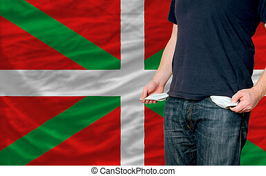recession impact on young man and society in basque - poor...