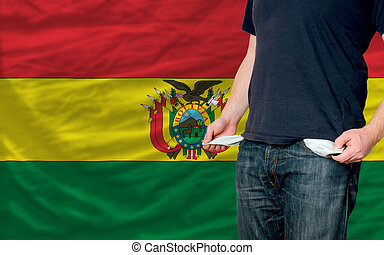 recession impact on young man and society in bolivia - poor...