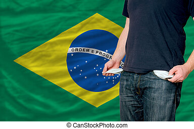 recession impact on young man and society in brazil - poor...