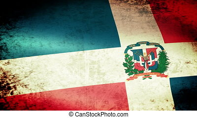 Dominican Republic Flag Waving, grunge