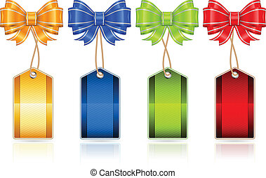 Price labels and bows
