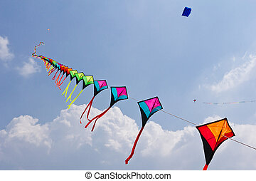 colorful of kite  - colorful fo kite
