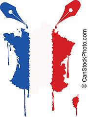 flag France ink
