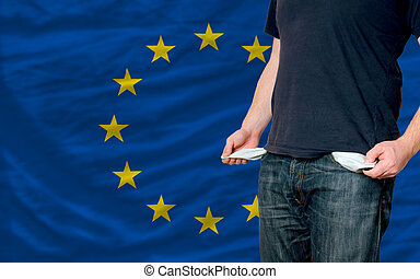 recession impact on young man and society in europe - poor...