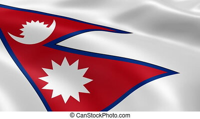 Nepali flag in the wind. Part of a series.
