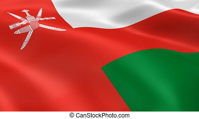 Omani flag in the wind