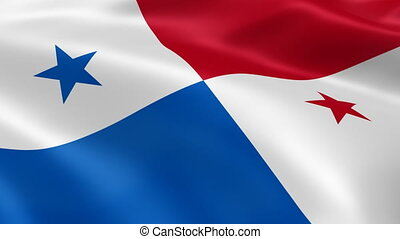 Panamanian flag in the wind