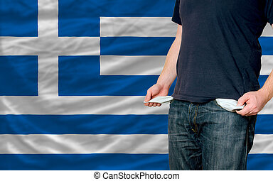 recession impact on young man and society in greece - poor...