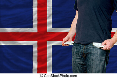recession impact on young man and society in iceland - poor...
