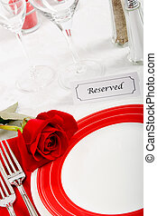 Romatic Restaurant Place Setting