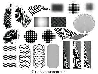 Set of 20 dotted techno textures