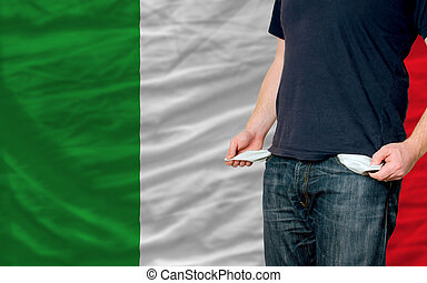 recession impact on young man and society in italy - poor...